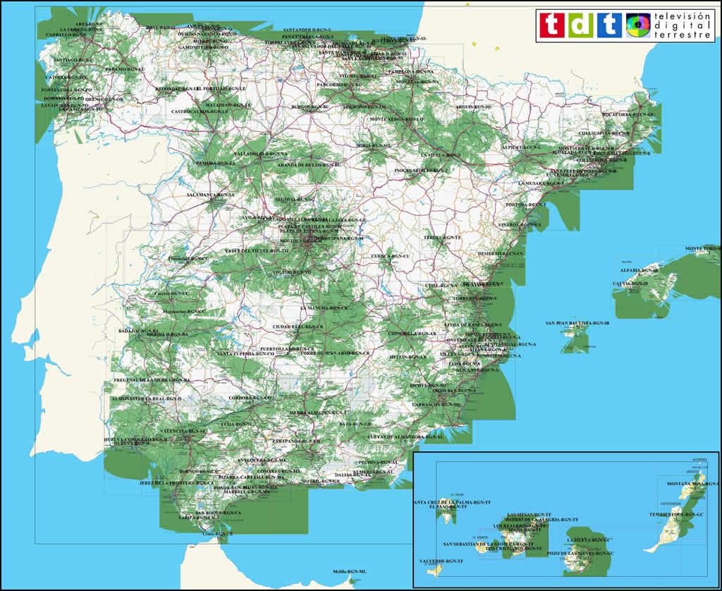 Mapa Cobertura Dab España.Mapa Cobertura Dab Espana Detraiteurvannederland